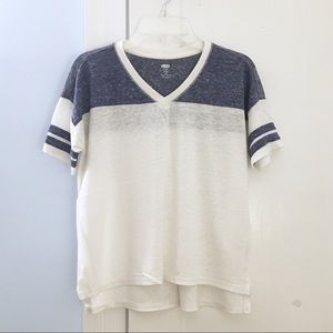 Old Navy Linen Football Tee